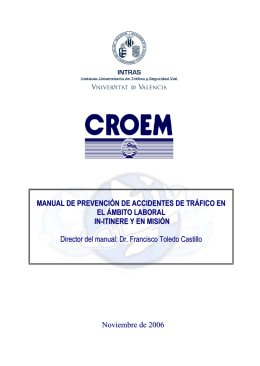 ç MANUAL DE PREVENCIÓN DE ACCIDENTES DE TRÁFICO EN