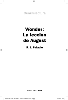 GUIA DE LECTURA – WONDER. LA LECCION DE AUGUST(5).indd