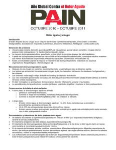 Dolor agudo y cirugía - International Association for the Study of Pain