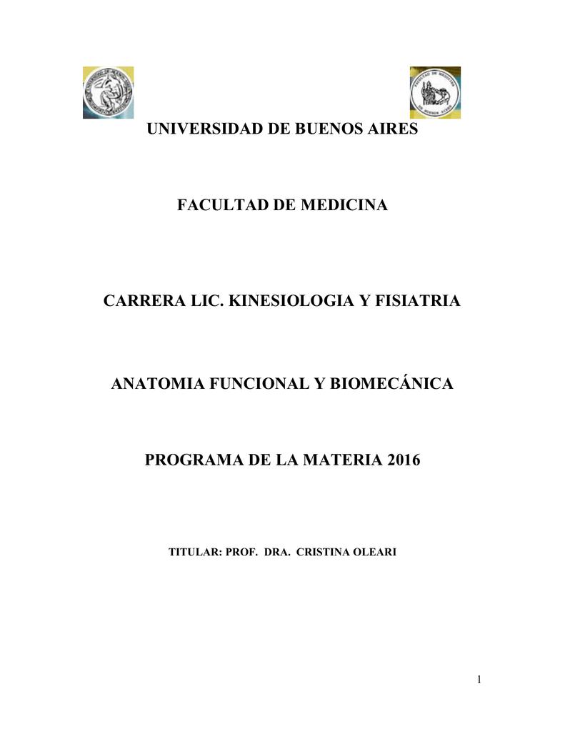 descargar el programa - Facultad de Medicina