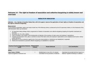 Outcome 14 - The right to freedom of association and collective