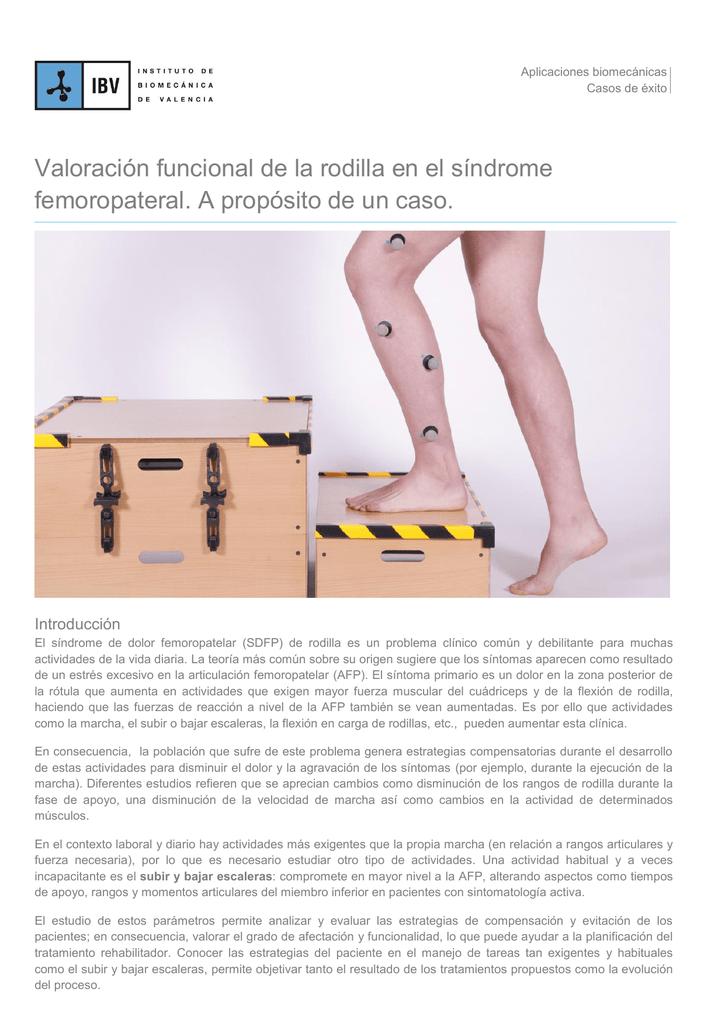 Valoración funcional de la rodilla en el síndrome femoropateral. A