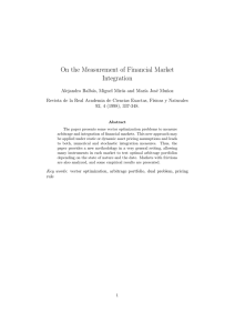 On the Measurement of Financial Market Integration