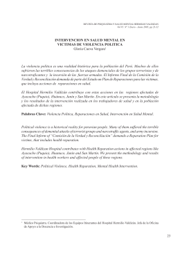INTERVENCION EN SALUD MENTAL EN VICTIMAS DE