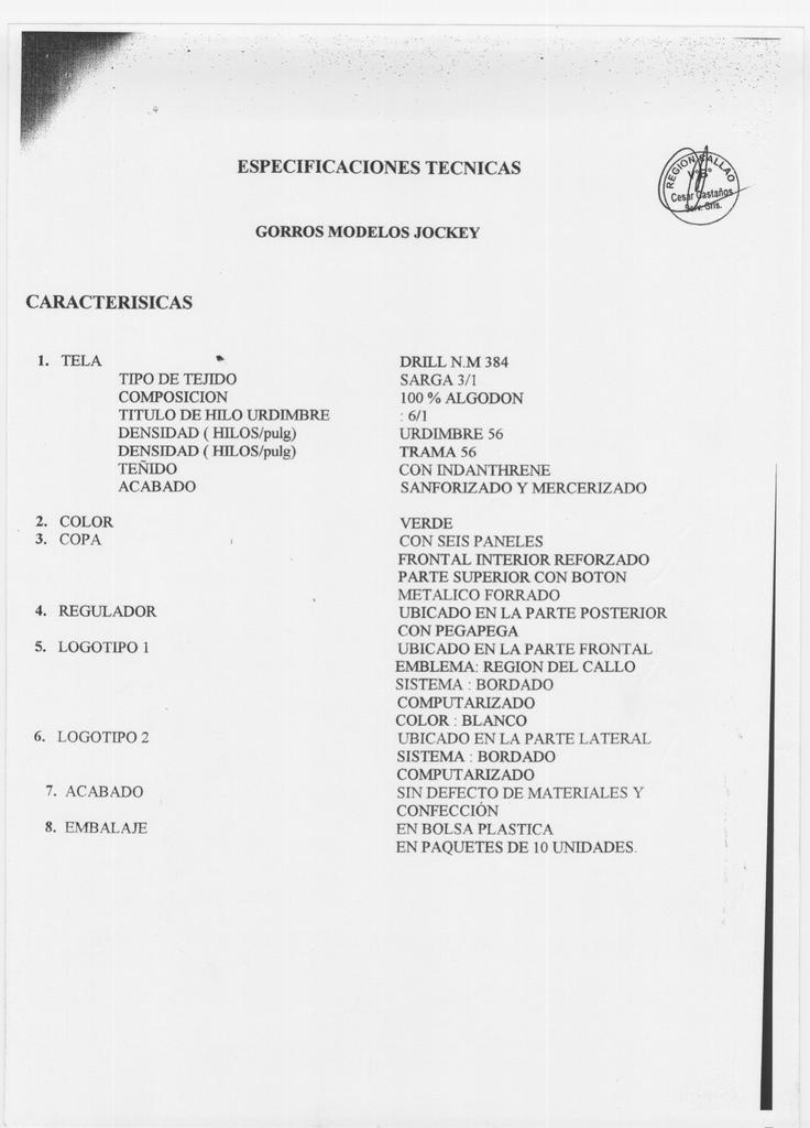 especificaciones tecnicas caracterisicas e13464042539