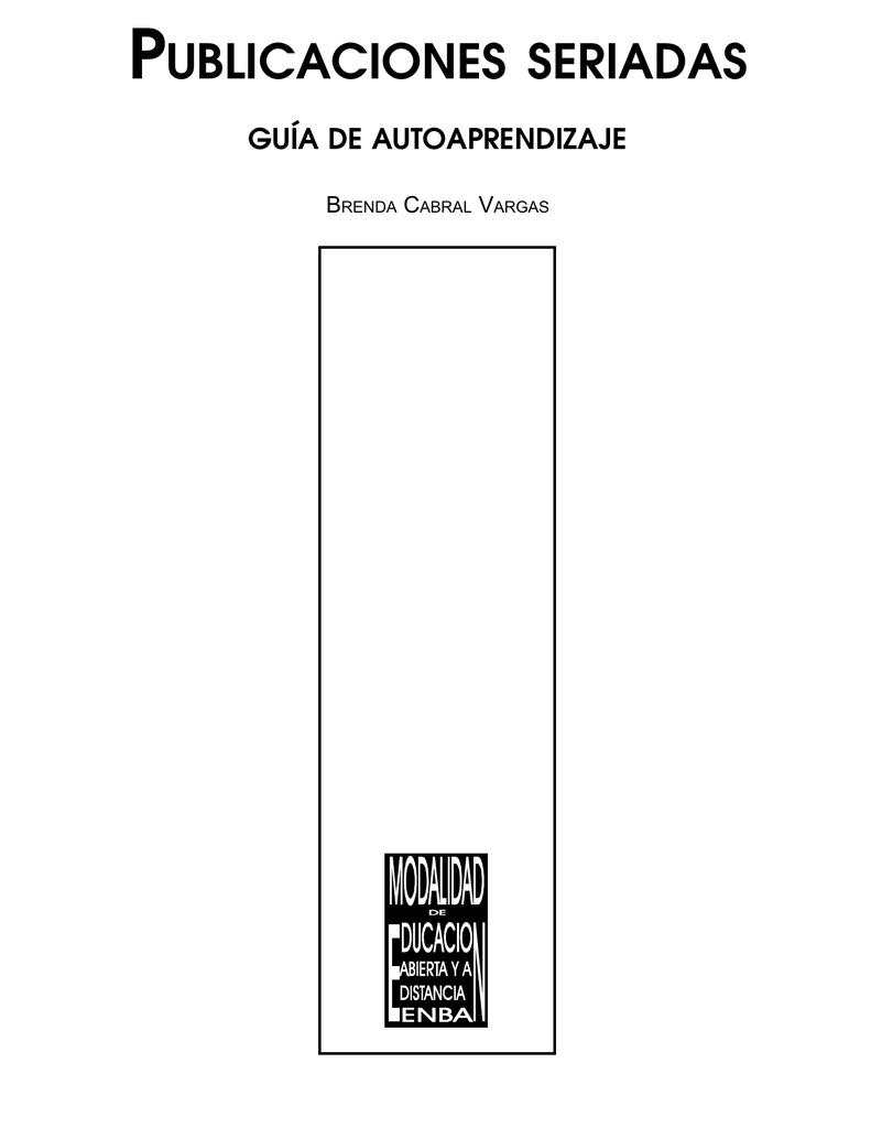 publicaciones seriadas - Escuela Nacional de Biblioteconomía y