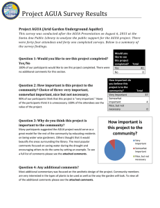 Project AGUA Survey Results
