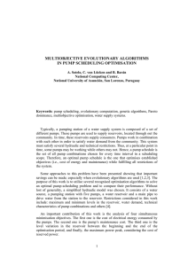 multiobjective evolutionary algorithms in pump scheduling