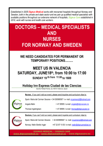 doctors – medical specialists and nurses for norway and sweden