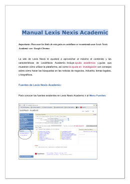Manual Lexis Nexis Academic
