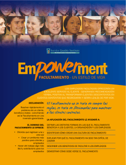 Empowerment - Service Quality Institute
