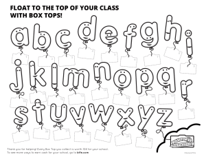 float to the top of your class with box tops!