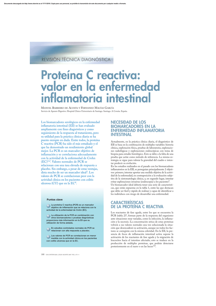 valores normales de proteina c reactiva en adultos