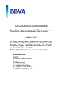 TO THE CNMV (SECURITIES EXCHANGE COMMISSION) Banco