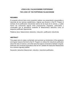 LÓGICA DEL FALSACIONISMO POPPERIANO THE LOGIC OF THE
