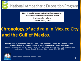 Chronology of acid rain in Mexico City
