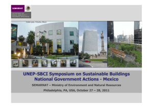 UNEP-SBCI Symposium on Sustainable Buildings National