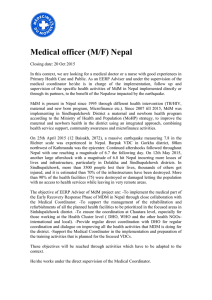 Medical officer (M/F) Nepal