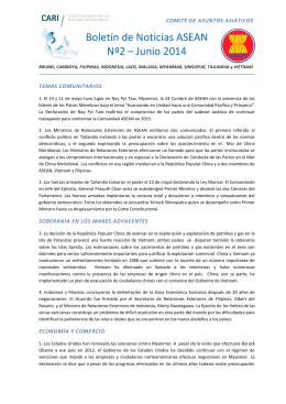 La asean y el mercosur similitudes diferencias y potencialidades boletn de noticias asean n2 junio 2014 malvernweather Images