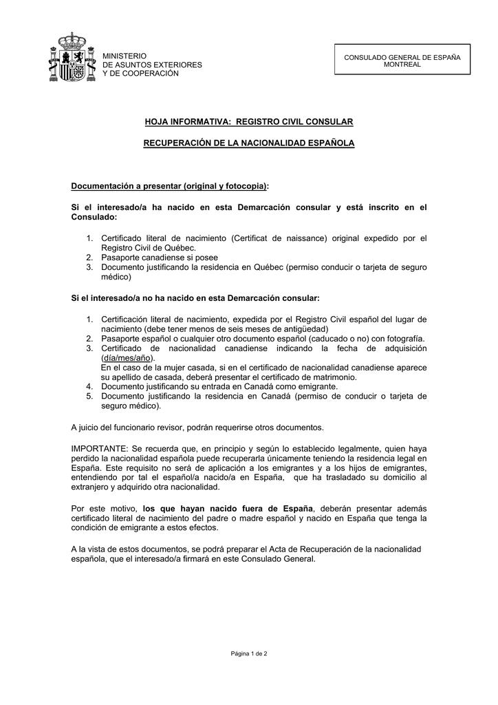 Perfecto Nacimiento Perdido Certificado De Quebec Bosquejo - Cómo ...
