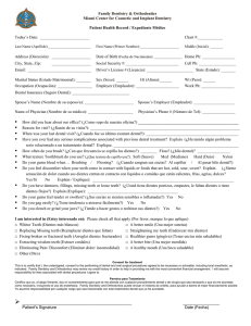 New Patient Paperwork - Miami Center for Cosmetic and Implant
