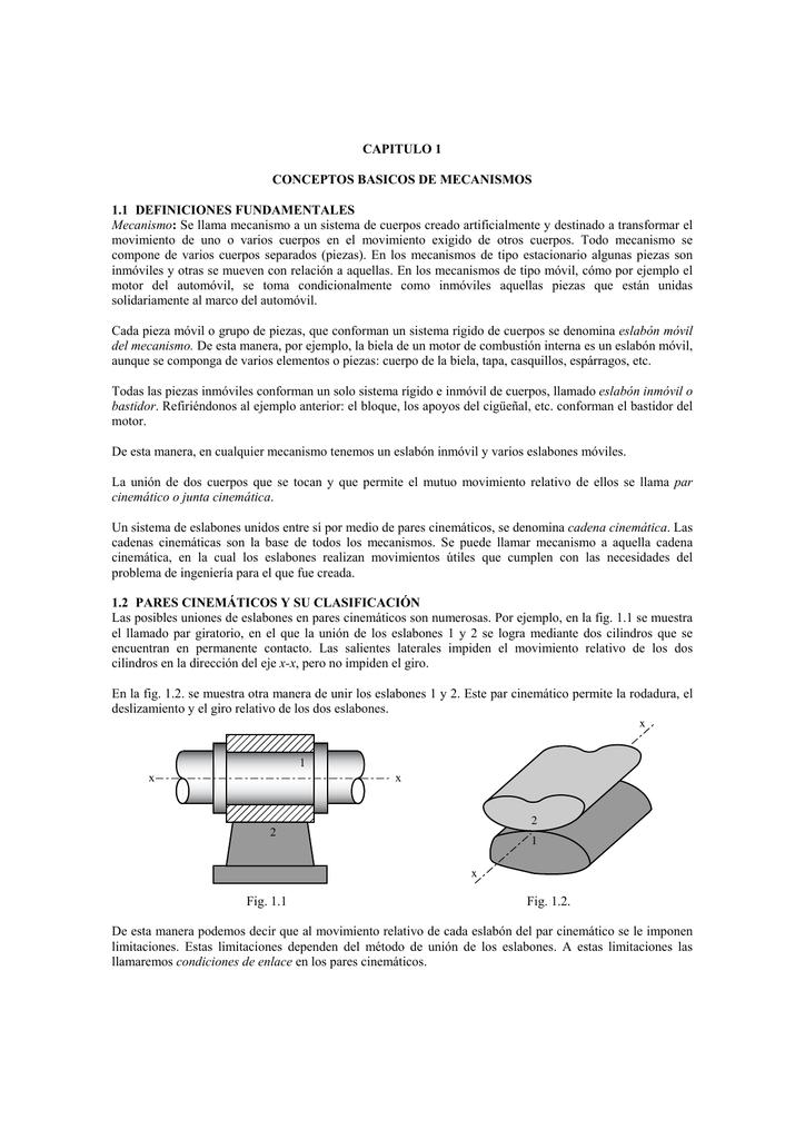 Concéptos básicos de Mecanismos