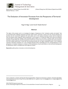 The Evaluation of Innovation Processes from the Perspective of