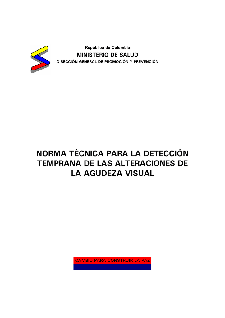 NORMA TECNICA AGUDEZA VISUAL DOWNLOAD