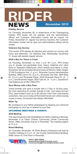 November 2015 - Riverside Transit Agency