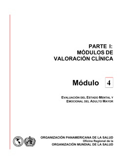 Módulo 4. Evaluación del estado mental y emocional del adulto mayor