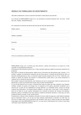 Revista tsj tribunal supremo de justicia for Formulario desistimiento