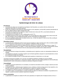 Epidemiología del dolor de cabeza - International Association for the