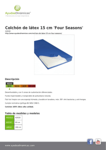 Colchón de látex 15 cm `Four Seasons`