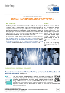 social inclusion and protection - European Parliament