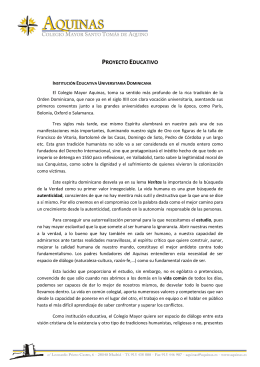 proyecto educativo - Colegio Mayor Aquinas