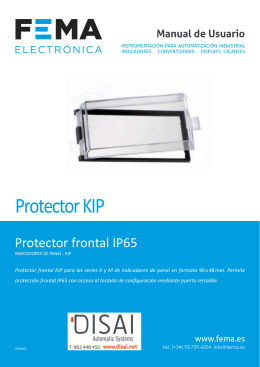 manual protector kip ip65 fema electronica