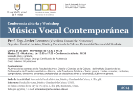 afiche MUSICA VOCAL CONTEMPORANEA