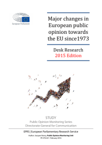 Major changes in European public opinion towards the EU since1973