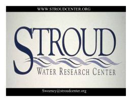 1,2,3 - Stroud Water Research Center