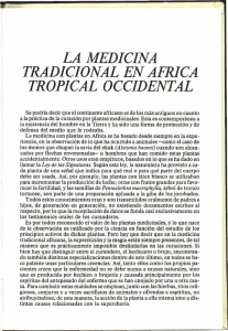 LA MEDICINA TRADICIONAL EN AFRICA TROPICAL OCCIDENTAL