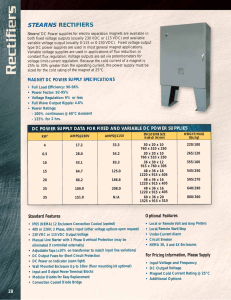 Stearns Magnetic Rectifier Equipment