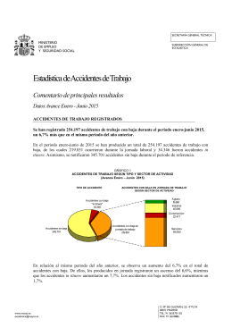 Estadística de Accidentes de Trabajo