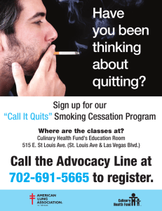 Have you been thinking about quitting?