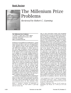 The Millenium Prize Problems - American Mathematical Society