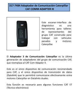 317-7484 Adaptador de Comunicación Caterpillar CAT COMM