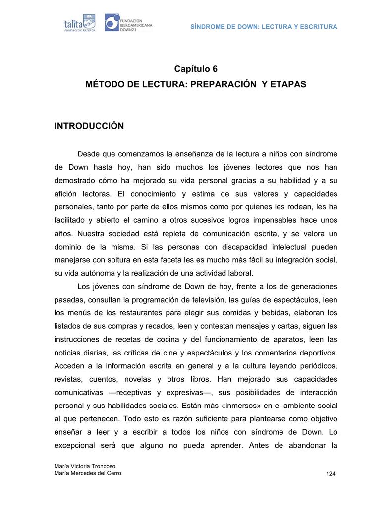 Capítulo 6 MÉTODO DE LECTURA: PREPARACIÓN Y ETAPAS