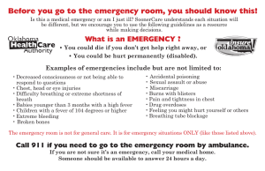 Before you go to the emergency room, you should know this!