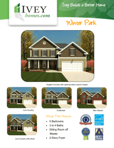 Winter Park - Ivey Homes