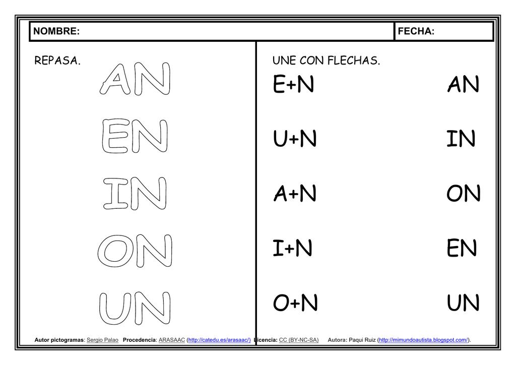 Inversa Letra N