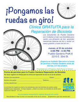 ¡Pongamos las ruedas en giro! - Safe Routes To School Tucson